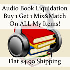 New Audio Book Liquidation Sale ** Authors: O-R #9 ** Buy 1 Get 1 flat ship