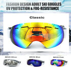 Anti-fog UV Ski Snow Sports Goggles w/Pouch Protection Men Women Youth Goggles