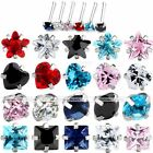 1x 20G CZ Crystal Stainless Steel Nose Bone Ring Stud Body Piercing Jewelry