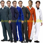 Adults Coverall Overalls Workwear Boilersuit Safety Work Stud Mens Overalls