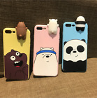 3D Cartoon TPU Soft Bear Protective Back Case Cover Anti Stress For iPhone