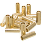 Brass Macrame Crafting Tubes - Shiny Brass Color - Multiple Pack Sizes