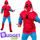 Spider Man Sweats Adults Fancy Dress Homecoming Superhero Mens Costume Outfit