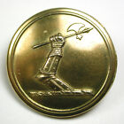"Antique Brass Livery Button - Armored Arm Holding a Battle Ax - 1"" - Bullivant"