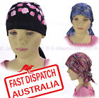 Girl Chemo Hair Loss Fashion Head Wrap Cover Hat Fitted Bandana Flower Floral