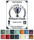 BOX 12 PIECES HIGH QUALITÄT SILVER CUP CUE CHALK AVAILABLE IN VARIOUS COLOURS $12.58 USD on eBay