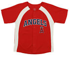Outerstuff MLB Youth Boys Los Angeles Angels Blank Baseball Jersey, Red