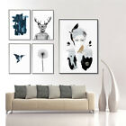 Abstract Animal Green Plant Unframed Canvas Prints Bedroom Wall Art Pictures