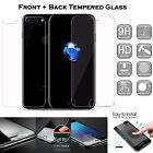 360 Front Back Rear Tempered Glass Screen Protector For iPhone X 10 7 / 8 Plus