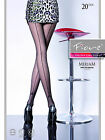 Fiore Miriam Golden Line Back seam Patterned Sheer Tights 20 Denier