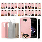 For LG X Venture X Calibur V9 Dog Design Sparkling Light Pink Case Cover + Pen