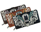 New! Montana West® Western Buckle Secretary Style Wallet- 3 Color Choices