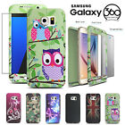 Case Cover For Samsung Galaxy S6 S7 Edge A5 Hybrid Thin 360 Case Tempered Glass
