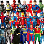 Deluxe Superhero Boys Fancy Dress Comic Book Day Week Kids Childrens Costume New
