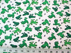 Discount Fabric Cozy Cotton Flannel Green Frogs and Dragonflies 409K