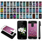 For LG K7 Tribute 5 LS675 MS330/ M1 Shockproof Brushed Hybrid Cover Case + Pen