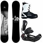 New System Timeless w/ MTN Rear Entry Bindings Men's Complete Snowboard Package