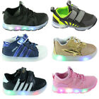 Kids Boys Girls Light Up LED Flashing Trainers Sneakers Running Sports Shoes