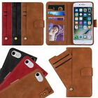Leather Wallet Magnetic Flip Card Case Cover fr iPhone 7/8 Plus X,Samsung S9/S9+