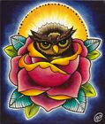 Baby Owl and Rose by Brittany Morgan Art Bird Colorful Picture Canvas Giclee