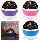 Kids Baby Bedroom Beautiful Star Sky Starry Night Projector Light Lamp New