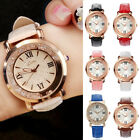 New Women Girl Glossy Crystal Wristwatch Sudtent Girl Leather Strap Quartz Watch image