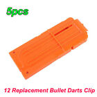 50pcs 12 Reload Clip Magazine Bullets Darts Replacement for Kids Toy Gun US