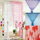 Door Curtain Drapery String Curtain Bunt Voile Butterfly Curtains 200cmx100cm