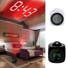 Digital LED Alarm Clock Time Projector Voice Talking Temp Display Desk Night New