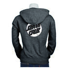 SANTA CRUZ MISSING DOT WOMEN'S ZIP HOODIE GUNMETAL HEATHER