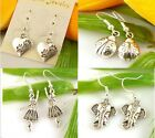 HOT Wholesale Lady 4Pair/lot Charm Fashion Jewelry Silver Mix Stud Earrings NEW