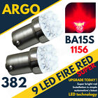 Bright Red 9 Led 382 P21/5w 1156 Car Rear Brake Stop & Tail Rear Bulbs Ba15s 12v