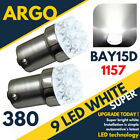 Bright White 9 Led 380 P21/5w 1157 Car Brake Stop & Tail Rear Bulbs Bay15d 12v