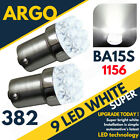 Bright White 9 Led 382 P21/5w 1156 Car Brake Stop Fog Reverse Bulbs Ba15s 12v