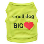 Small Pet Dog Big Love Clothes Fashion Costume Vest Puppy Cat T-Shirt Apparel