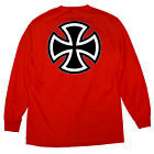INDEPENDENT BAR/CROSS MEN'S LONG SLEEVE T-SHIRT RED