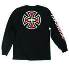 INDEPENDENT BAR/CROSS MEN'S LONG SLEEVE T-SHIRT BLACK