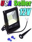 12V Low Voltage 20W Cool Pure White LED Slim Flood Landscape Garden Light SMD