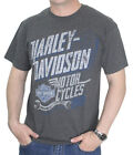 Harley-Davidson Mens Unitary Brothers B&S Charcoal Grey Short Sleeve T-Shirt
