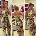 Summer New Women Ladies Flower Print Backless Casual suit Trous 32