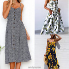 2018 Women Summer Boho Style Midi Dress Evening Party Casual Dress Print Dresses