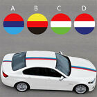 Fashion Top Flag Stripe Three Colors Roof Hood Car Decal Colored Strip Sticker