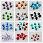 Wholesale 36pcs 14mm Glass Crystal Heart Faceted Charms Loose Pendants Beads
