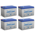 Power-Sonic 12V 12AH Battery Replaces GoPet Pet Pro Q Electric Scooter - 4 Pack