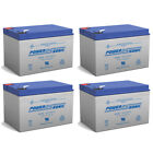 Power-Sonic 12V 12AH Battery Replaces GoPet Pet Pro QL Electric Scooter - 4 Pack