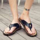 Fashion Summer Men's Non-slip Beach Shoes Casual Leather Shoes Sandals Slippers
