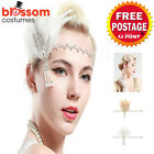 K510 1920s Headband Vintage Bridal Gatsby 20s Chicago Flapper Feather Headpiece
