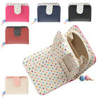 Ladies Faux Leather Polka Dot Purse with Zipped Coin Holder - RFID Protected