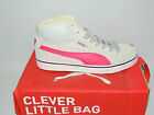 PUMA MID VULC FUR JUNIOR/YOUNG ADULT GREY/PINK SUEDE LACE UP TRAINERS. BNIB