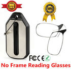 Thin Optics Mini Nose Clip No Frame Reading Glasses Nasal Pocket Keychain +Case